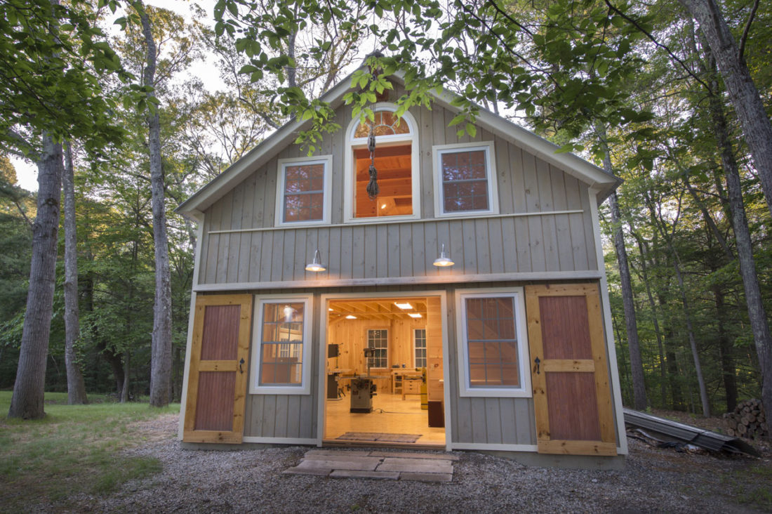 Geobarns: Massachusetts Woodworking Barn