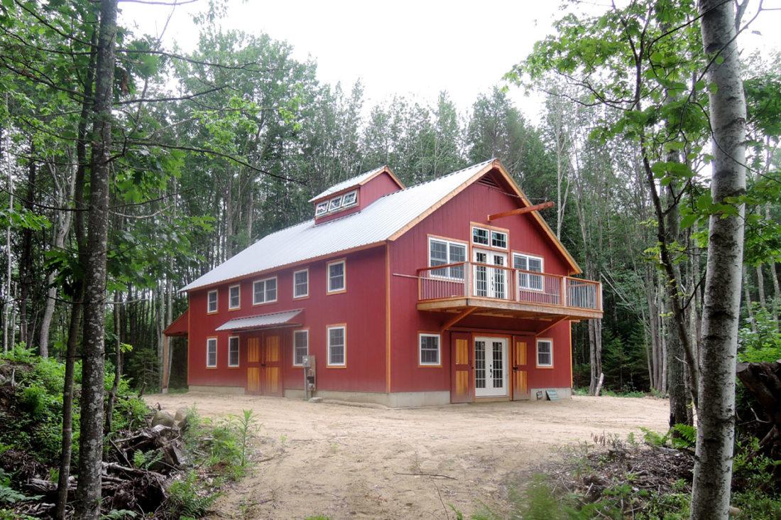 maine arundel red barn exterior barn doors french doors porch ... & Geobarns: Maine Coast Barn